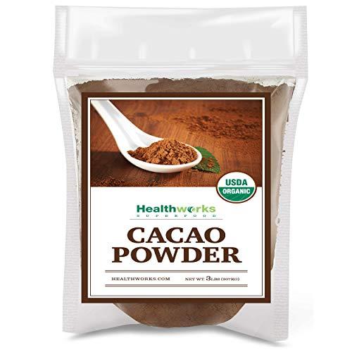 Healthworks Cacao Powder (48 Ounces / 3 Pounds) | Cocoa Chocolate Substitute | Certified Organic | Sugar-Free, Keto, Vegan & Non-GMO | Peruvian Bean/Nut Origin | Antioxidant Superfood