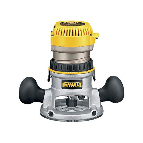 DEWALT Router, Fixed Base, Variable Speed, 2-1/4 HP (DW618) , Yellow