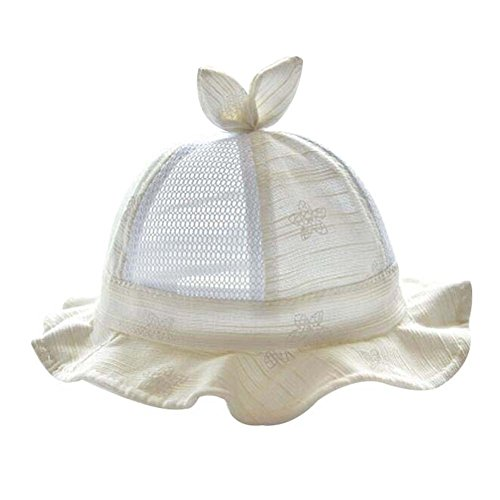Chapeau de bébé Chapeau d'été en coton de soleil Chapeau de plume pliable Chapeau de joli cadeau Jau