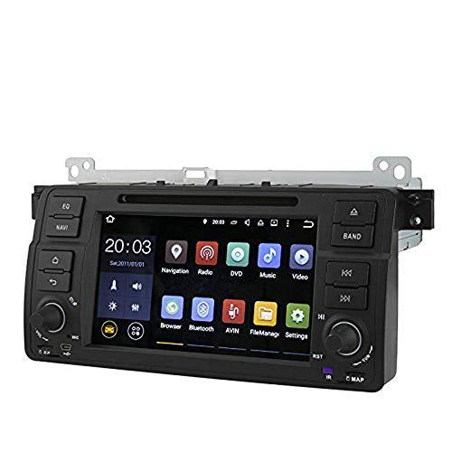 BW Lecteur DVD de Voiture 1 DIN pour BMW Série 3 E46 GPS Écran Tactile 7\