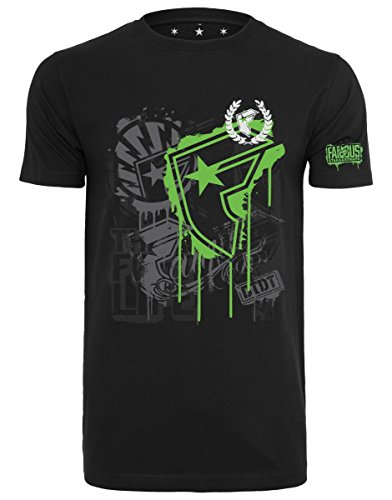 Famous Stars and Straps Herren Riot Wall T-Shirt, Black, M