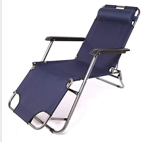 Huachaoxiang Cama Plegable, Playa Tomando el Sol jardín portátil de Tomar el Sol heces Acampar diván sin Peso Ajustable Verde al Aire Libre 178 cm,Negro
