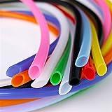 Zmaoyun-PVC Mangueras de conducto ID de tubo de silicona flexible colorido 1mm x 3 mm SOBREDOSIS Conector de tubería suave de la manguera de goma no tóxica de grado alimenticio, Resistente al desgaste