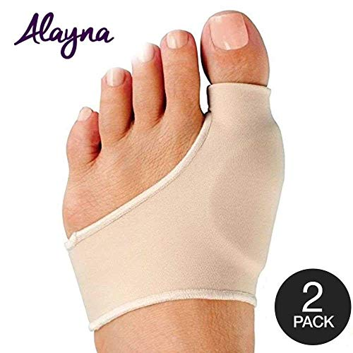 Alayna MEDIUM Bunion Corrector with Non-Slip Grip Insert and Gel Cushion Pad Splint Orthopedic Bunion Protector and Pain Relief Men/Women - Hallux Valgus Realignment Stops Bunion Pain (2 PCS)