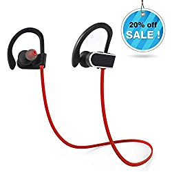 Bluetooth Kopfhörer Wasserdicht Wireless Stereo Sport Ohrhörer In Ear Headset IPX7 mit Mikrofon für iPhone Samsung Laufen, Radfahren, Fitness, Joggen