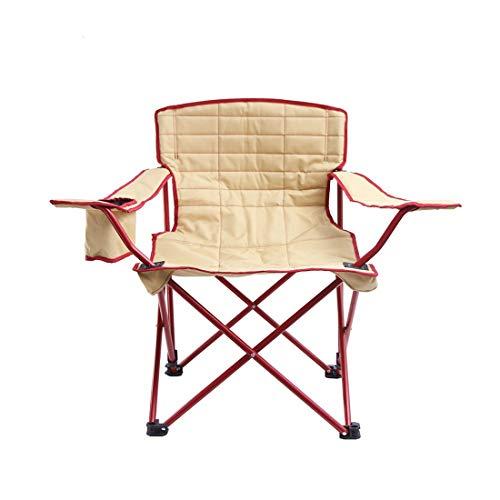 LHY TRAVEL Outdoor-Picknick Klappsitz mit Rückenlehne Getränkegestell Bequeme Picknick-Bank Camping Hocker Angeln Wandern