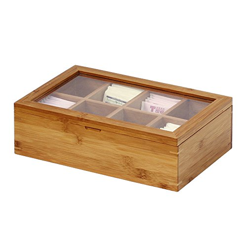 Oceanstar Bamboo Tea Box, 12 Inch, Natural