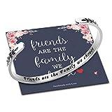 Ursteel Best Friend Friendship Gifts for Women, Friends are The Family We Choose Bracelet Jewelry Gifts for Friends Birthday Gifts for Friends Female