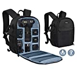 Yesker Camera Backpack Professional DSLR/SLR Camera Bag Waterproof Shockproof, Camera Case Compatible for Sony Canon Nikon Camera and Lens Tripod Accessories for Photographer… (Small, Blue-Grey)