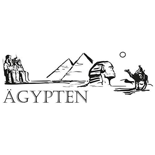 Wandtattoo Skyline Ägypten - S - 100cm x 34cm - 24 mögliche Farben