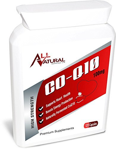 All Natural Supplies Co Enzyme Q10 120 100mg Softgel Capsules | 4 Month Supply of Premium Quality CO Q 10.
