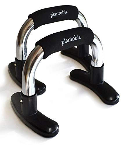 plantobiz プッシュアップバー 金属 腕立て伏せ 筋トレ 大胸筋 腕力 腹筋 説明書つき