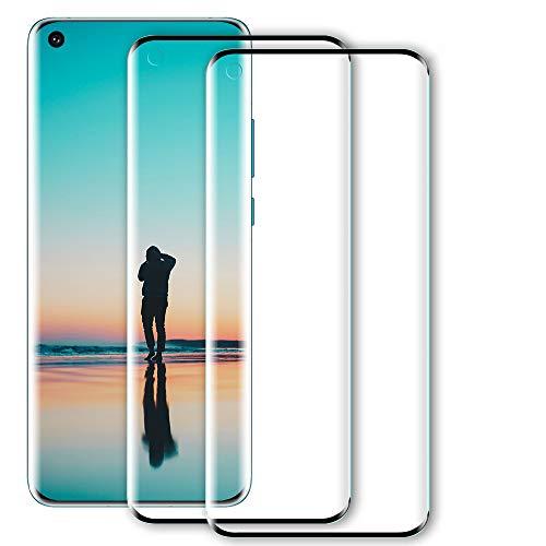 WILLONE Lot de 2 protections d'écran pour OnePlus 8 Pro - 6D - Film en verre trempé de qualité supérieure - Sans bulles - HD ultra transparent - Dureté 9H - Compatible avec capteur d'empreintes digitales