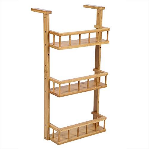Estantería de pared para frigorífico, especiero de 3 niveles para pared, diseño ahorro de espacio, estante para colgar en la nevera
