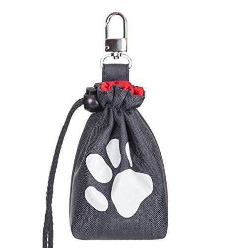 millybo Leckerlitasche Futterbeutel Futtertasche für Hunde Leckerlies Leckerlibeutel Snack Bag Tasche fürs Training (Graphite)