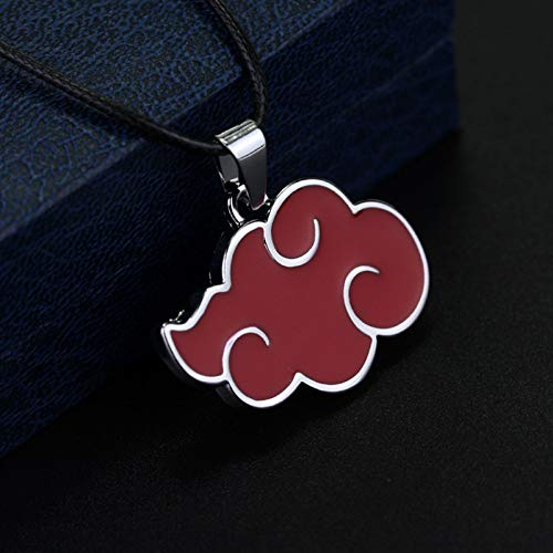 Matilda Animación Alrededor de Naruto, Akatsuki Red Cloud Colgante Collar Llavero Colgante(Color:Necklace)