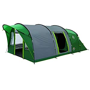 Coleman Tent Pinto Mountain 5 Plus, 5 Man Tent with BlackOut Bedroom Technology, Festival Essential, 2 Bedroom Family Tent, 100% Waterproof Camping Tent