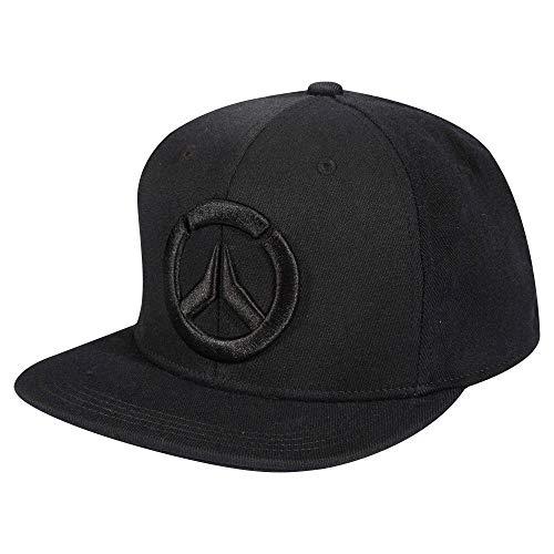 JINX Overwatch Blackout Stretch-Fit Baseball Hat, Black, Adult Size