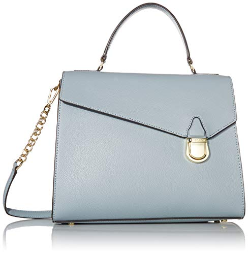 Calvin Klein Iris Hermine Leather Top Handle Satchel, TWILIGHT BLUE