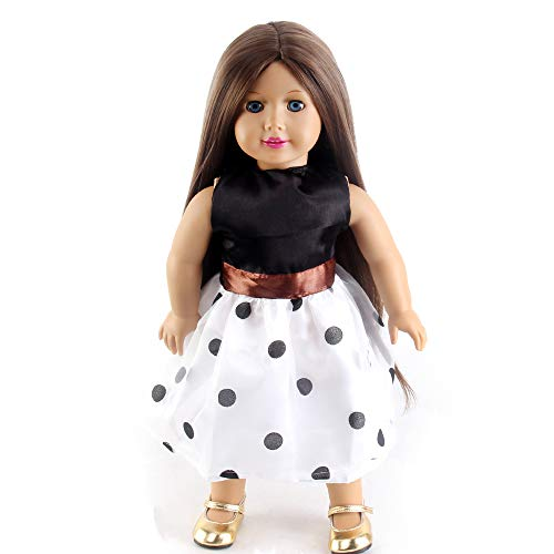 H&Bwig Long Straight Doll Wig for 18Inches Girl AG Doll Hair Kids Gifts (Brown)
