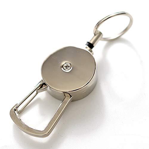 Savlot Stahldraht-Widerstand-elastisches Seil-einziehbare Schlüsselkette Sport Schlüsselbund Anti verlorener Warnungs-Schlüsselkette Im Freiensicherheits-Wölbung