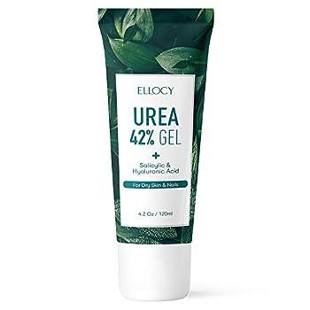Ellocy 42% Urea Gel Max Plus Salicylic & Hyaluronic Acid - Softens and Rehydrates Cracked Heels Elbows Feet Hands & Helps Rid Toenail Fungus