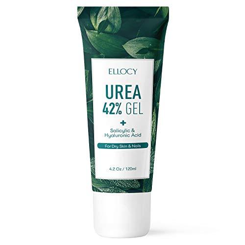 Ellocy 42% Urea Gel Max Plus Salicylic & Hyaluronic Acid - Softens and Rehydrates Cracked Heels, Elbows, Feet, Hands & Helps Rid Toenail Fungus