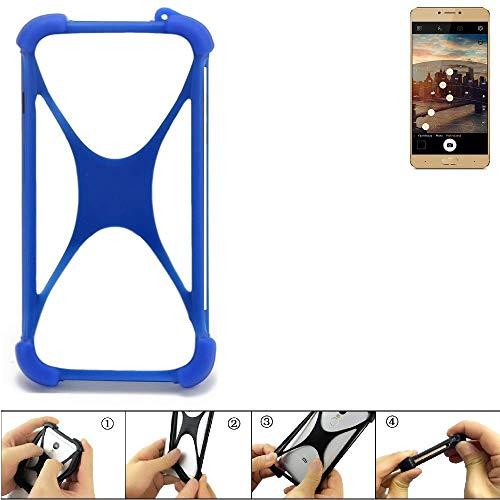 K-S-Trade® Handyhülle Für Allview X3 Soul Plus Silikon Schutz Hülle Cover Case Bumper Silikoncase TPU Softcase Schutzhülle Smartphone Stoßschutz, Blau (1x),
