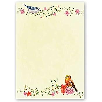 90g//m/² Briefpapier ROSENBL/ÜTEN 100 Blatt DIN A5 Motivpapier