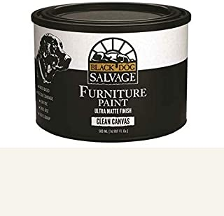 Furniture Paint 500ml Pint Black Dog Salvage Clean Canvas (White)