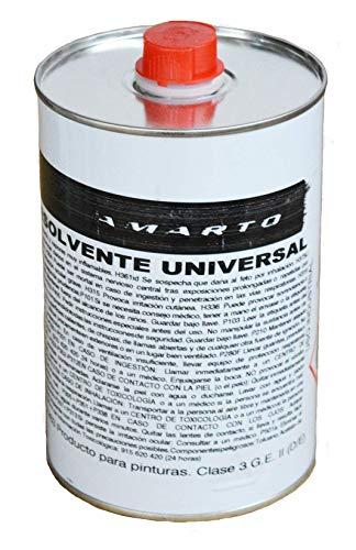 Disolvente Universal. diluye pinturas sinteticas, barnices, imprimaciones, tambien sirve para limpieza de herramientas. (1 L.)