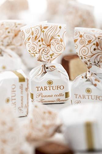 Antica Torroneria Piemontese Tartufo italienische Trüffelpralinen in verschiedenen Sorten 140 g Pralinen Trüffel Schokoladentrüffel (Tartufo panna cotta)