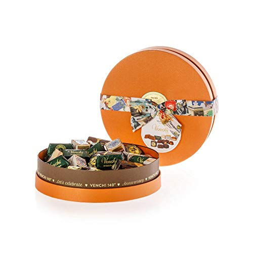 Venchi Anniversary Collection - Scatola Regalo Di Cioccolatini Assortiti In Cappelliera - Senza Glutine - 450 g