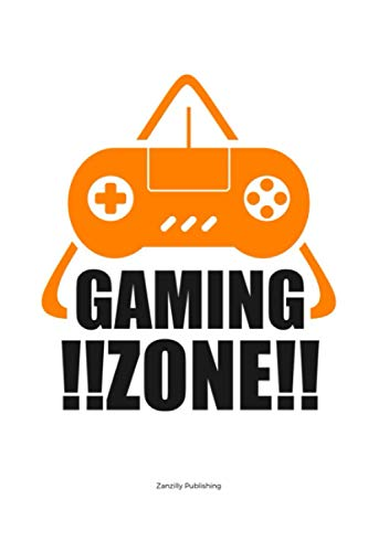 Gaming Zone: Fun gift for the gaming fan in your life. Measuring 6 x 9 inches, packed with 120 blank sketch pages with plenty of space to write and doodle gaming tips and memories