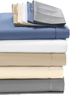 Degree 5 Dreamfit Bamboo Rich Naturally Cooling Sheet Set 100% Made in The USA (White, Queen)