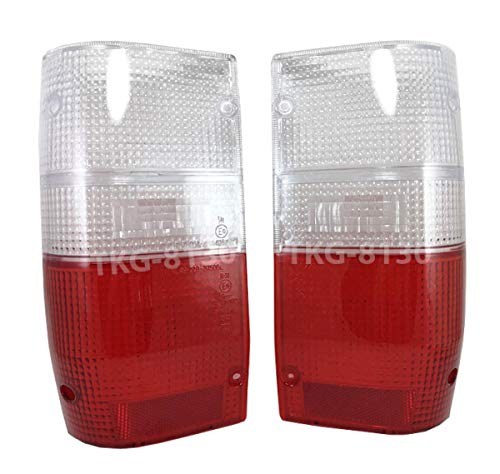 K1AutoParts 1 Pair Rear Taillights Tail Light Lamps Clear and Red Lens For Mitsubishi L200 Cyclone Pickup/Mitsubishi Mighty Max Pickup 1987-1996