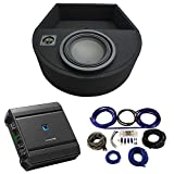Universal Replacement Spare Tire Well Alpine Type R R-W10D4 Single 10 Sub Box with S-A60M Amplifier & 4GA Amp Kit
