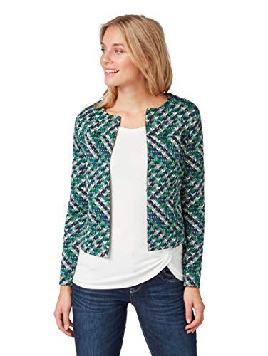 TOM TAILOR Damen Blazer & Sakko Blazer & Sakko Green Blue Structure,L