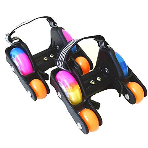 Fersenroller LED Flashroller Street Gliders Rollen Schuhe Kinder Mädchen Jungen LED Schuhe 120kg schwarz,Schwarz