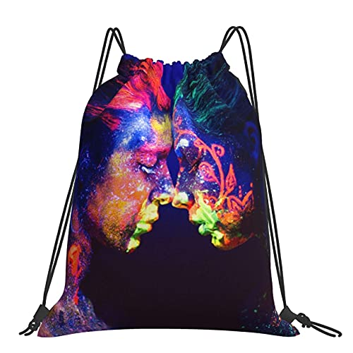 Bolsa de gimnasio Meet Me In The Dark Neon Mochila con cordón Bolsas deportivas Bolsa de playa para yoga Gimnasio Natación Viajes Playa