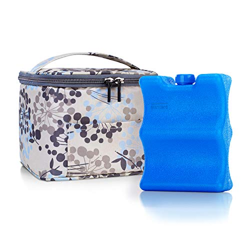 Teamoy Breastmilk Cooler Bag with Ice Pack, Baby Bottles Bag for up to 4 Large 5 Ounce Bottles Without Nipple, Perfect for Nursing Mom Back to Work, Dandelion