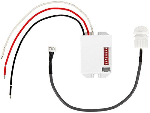 Unterputz Mini Einbau IR Bewegungsmelder 360° 12V 24V - für LED geeignet - Mindestlast nur 1W