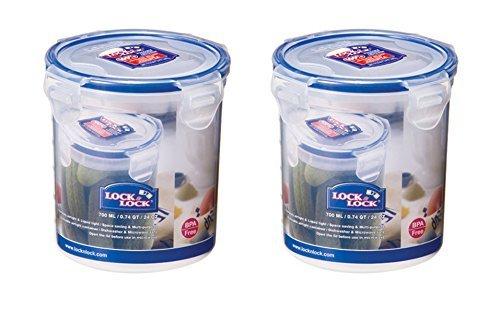 Schloss & LOCK 700 ml Runder Aufbewahrungsbehälter, 2 Stück