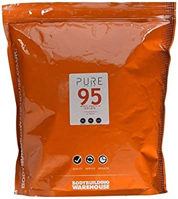 Bodybuilding Warehouse Pure Whey Protein Isolate 95 (Strawberries and Cream, 2kg)