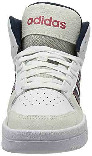adidas ENTRAP Mid, Zapatillas de Baloncesto Hombre, FTWBLA/Maruni/Rojint, 44 EU