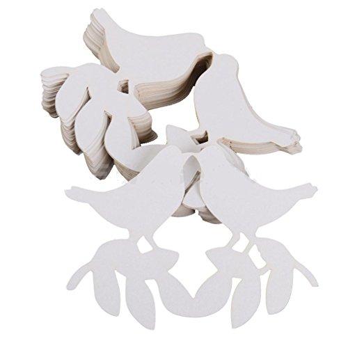 honeyhome 50pcs scheda bianca per decorare vetro laser taglio matrimonio
