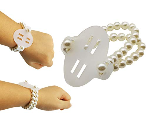 Sovenny 12 Pieces Elastic Pearl Wrist Bands Wristlets Corsage Accessories for Wedding Prom Flowers