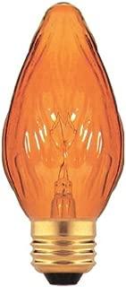 Bulbrite 25F15A-8PK 25W Fiesta Style Medium Base, Amber Chandelier Bulb, 8-Pack