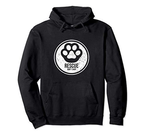 Hunde Rettung Geschenk für Hund, Katze & Haustier Freunde Pullover Hoodie