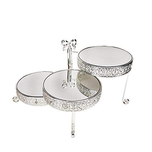 Liuxiaomiao Cupcake Stand Taartstandaard met drie niveaus, opvouwbare ijzeren taart verjaardagsfeestje vitrine vitrine met meerdere lagen dessertlade trouwdessertstandaard voor partycafé of horeca
